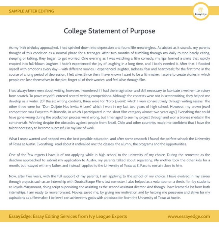 Purpose Of An Essay Example