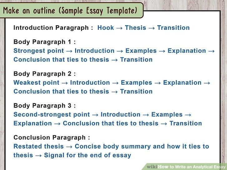 How To Write A Body Paragraph For An Analytical Essay