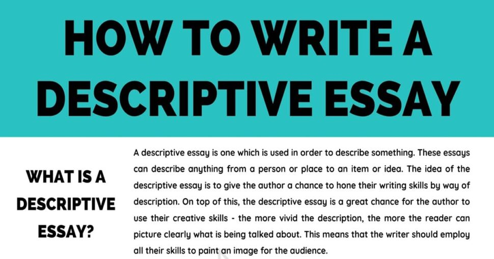 Large Size of Descriptive Essay Definition Examples Tips For Writing 7esl To Write Website Free
