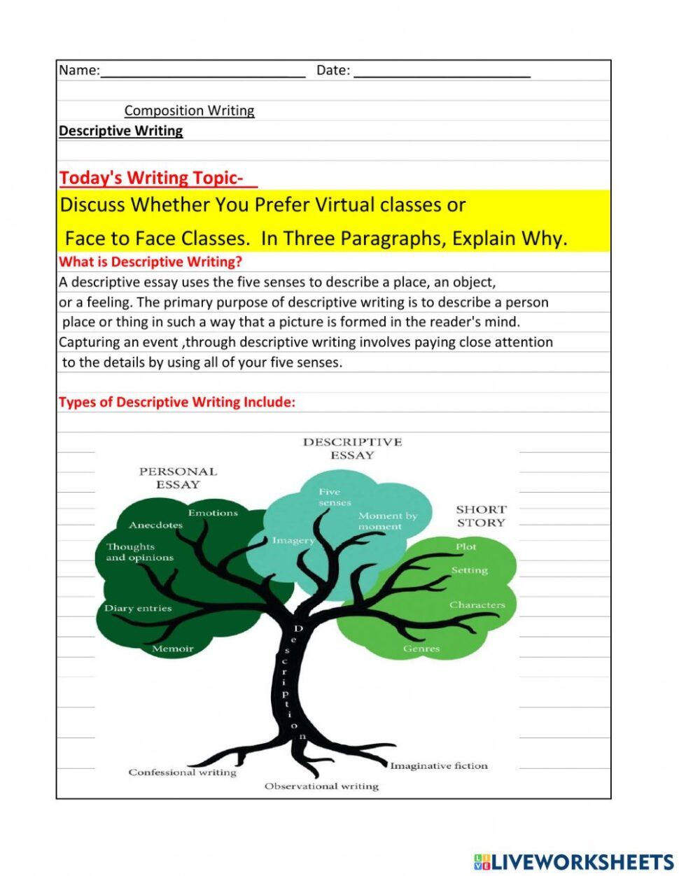 Large Size of Descriptive Writing Worksheet Success Essay Diversity Example Of Easy Photo Free