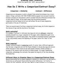 Do Write Comparison Contrast Essay Wheeling Jesuit And Mit Process Literary Writing