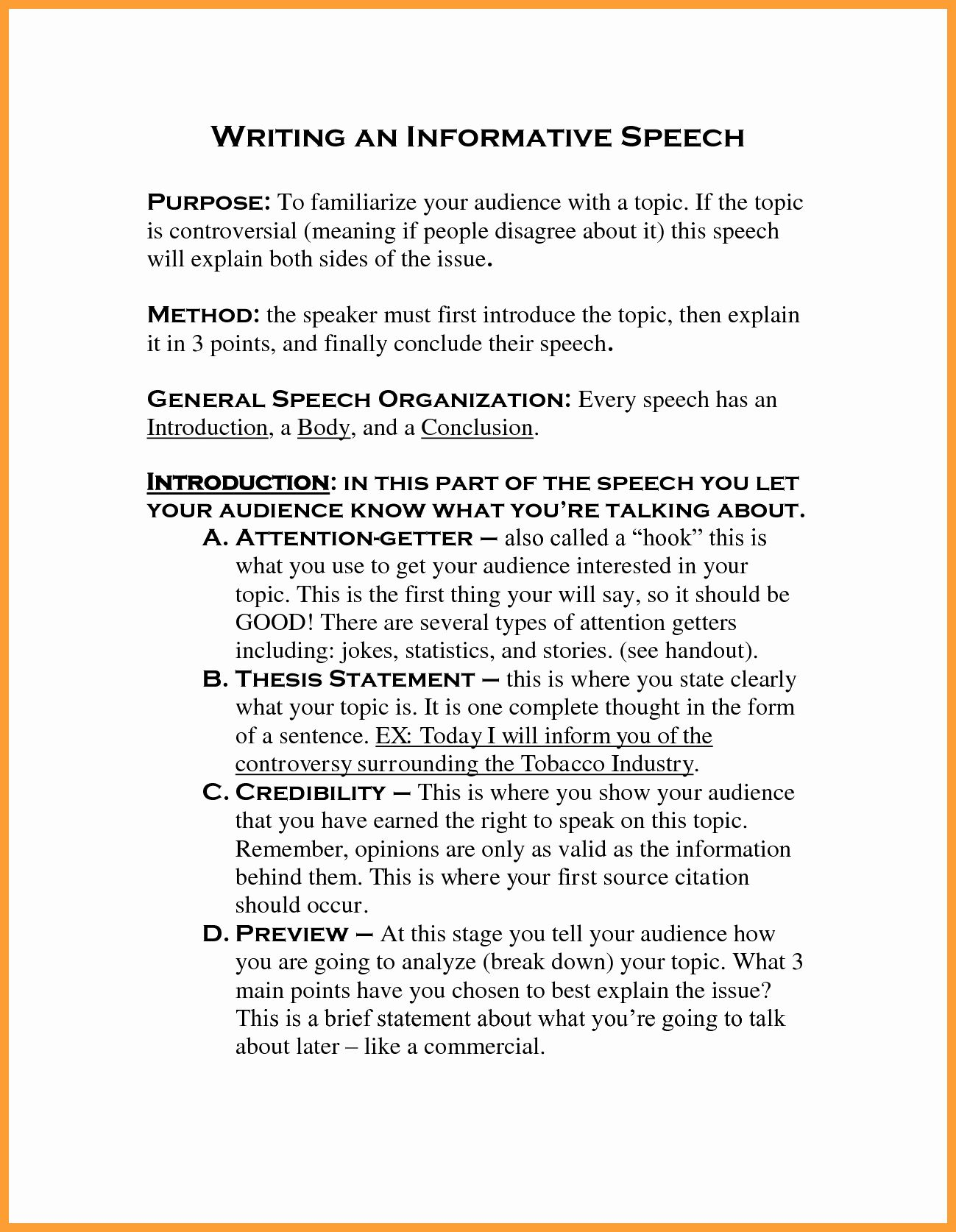 Full Size of Informative Essay Thesis Statement Examples