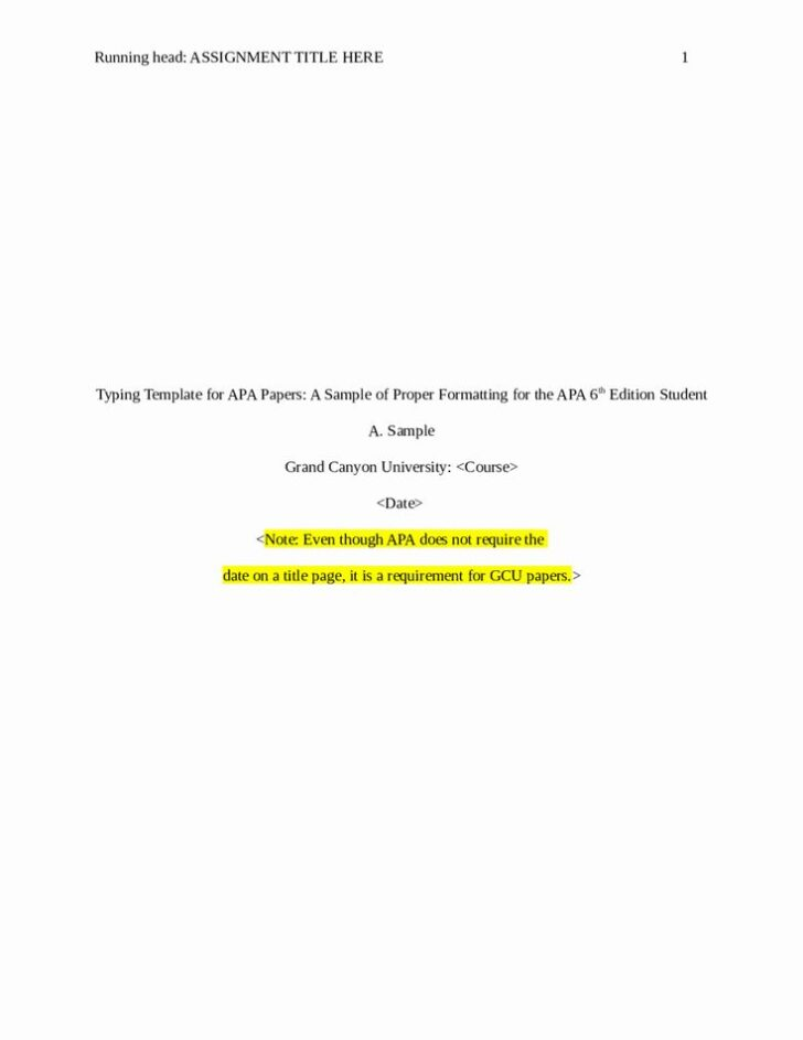 What Is A Title Page For An Essay Apa