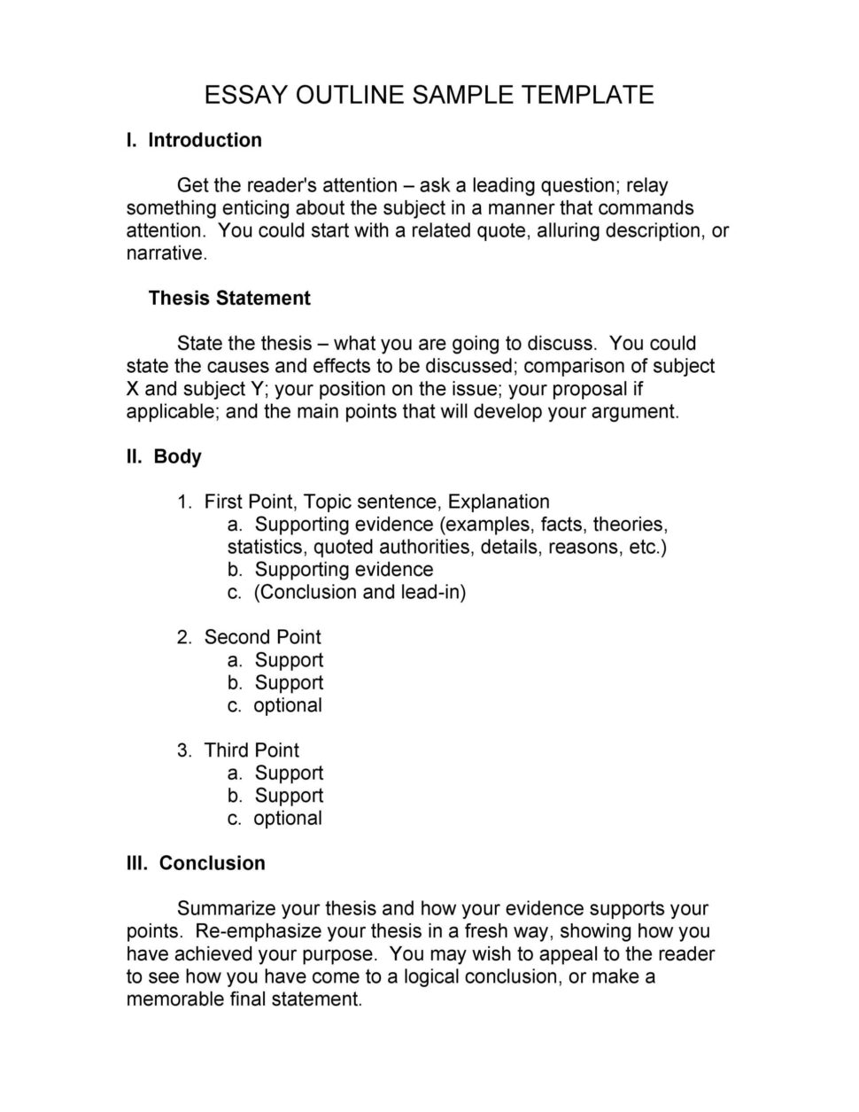 Large Size of Essay Outline 5 Page Template Apa Google Example