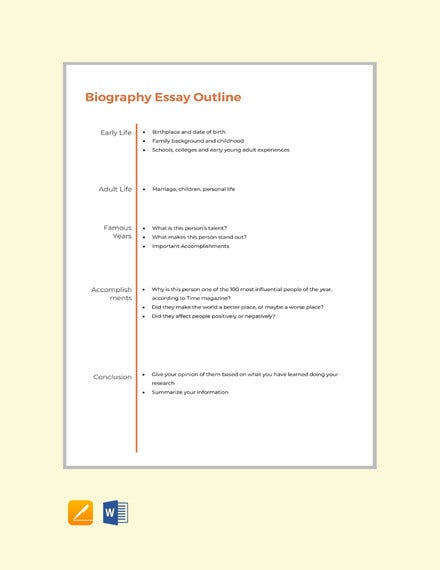 Full Size of Essay Outline Templates Pdf Free Premium Template Biography Format Paper Google Docs