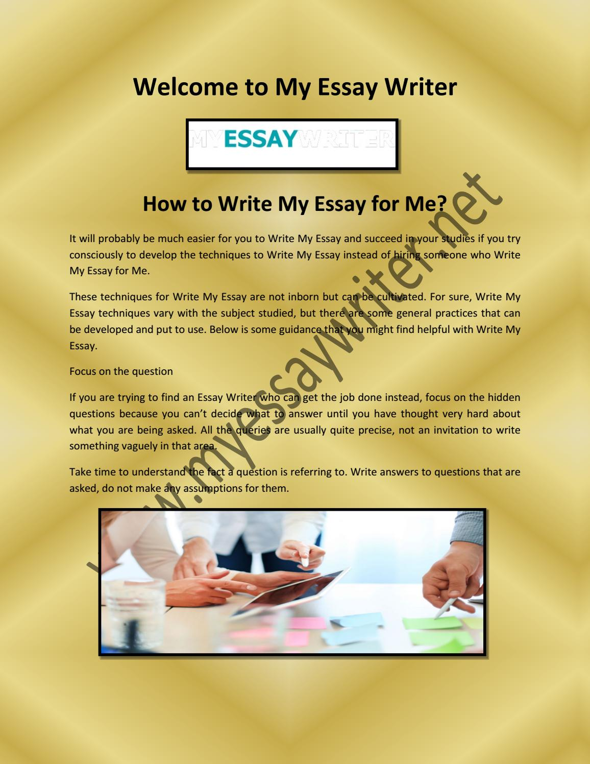 Full Size of Essay Writer And Write My For By Myessaywriter741 Issuu Example Short Autobiography Paper