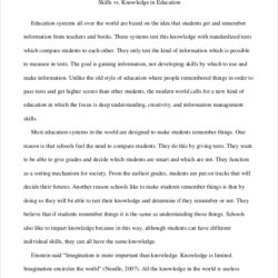 Examples Of Argumentative Essays An Essay For Education College Ideas Reflective Example