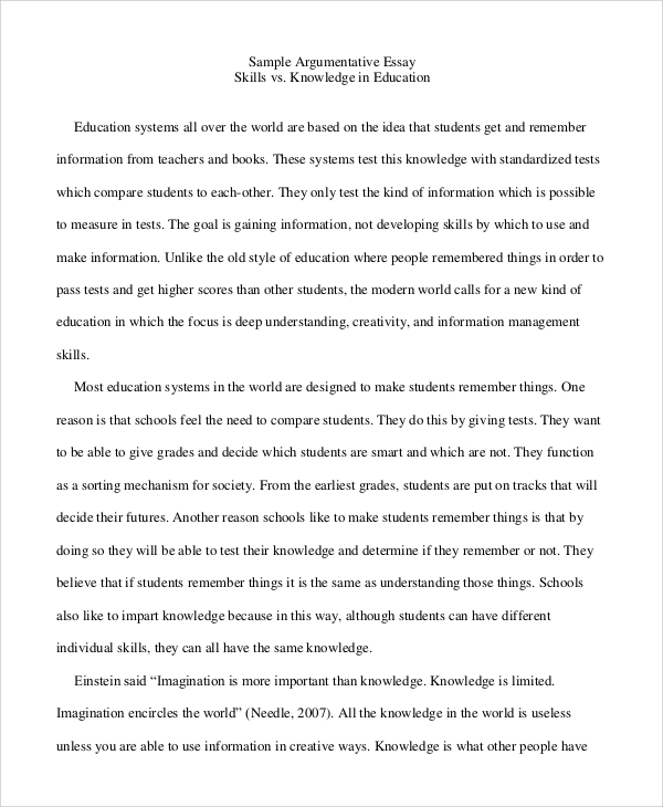 Full Size of Examples Of Argumentative Essays Essay For Education Pro Television College Persuasive