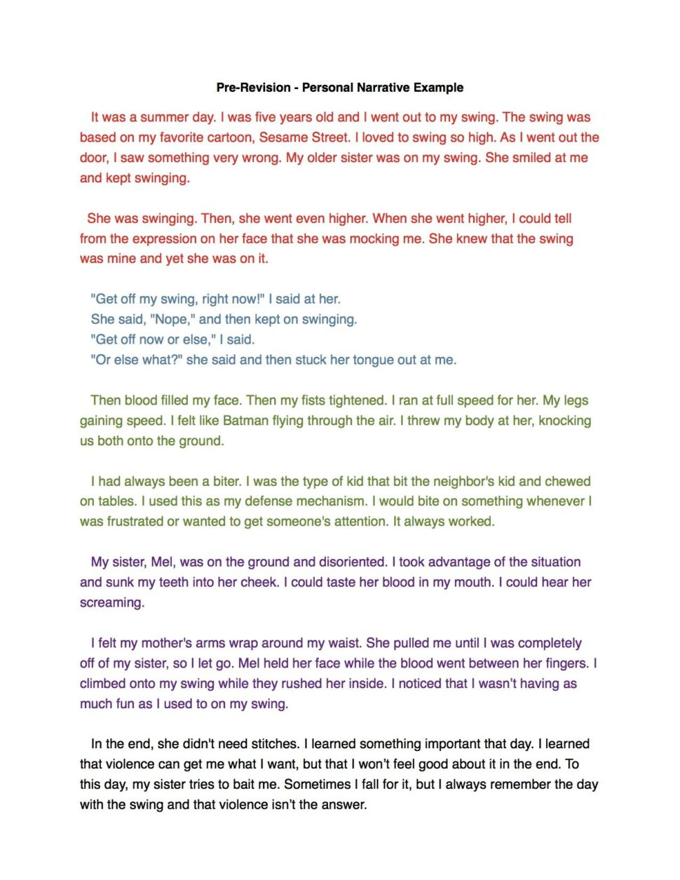 Large Size of Personal Narrative Essay Ideas