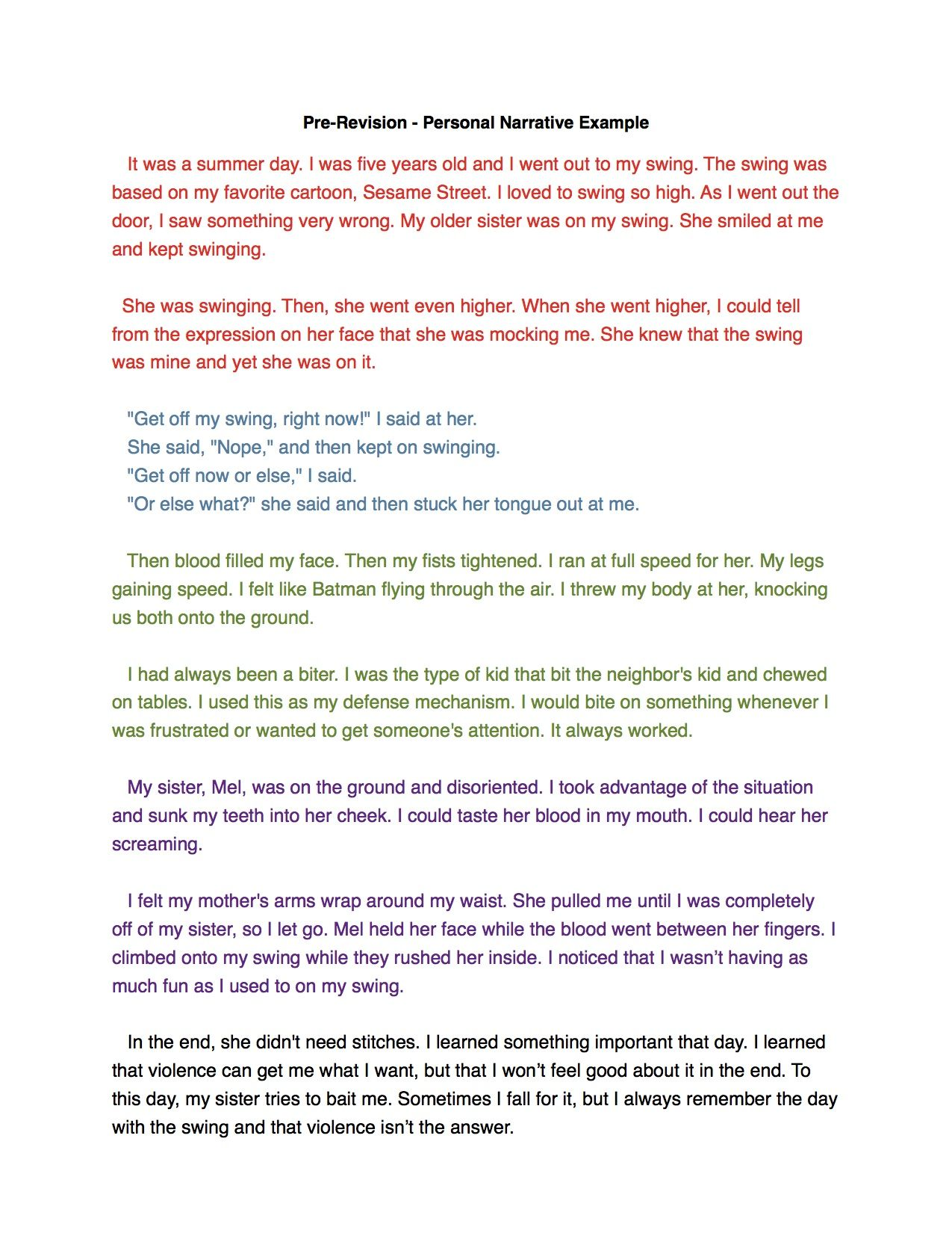 Full Size of Personal Narrative Essay Ideas
