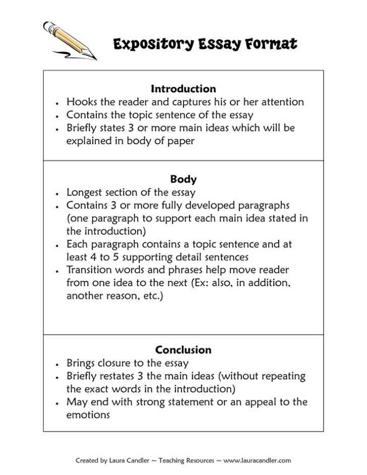 How To Write An Essay Format Example