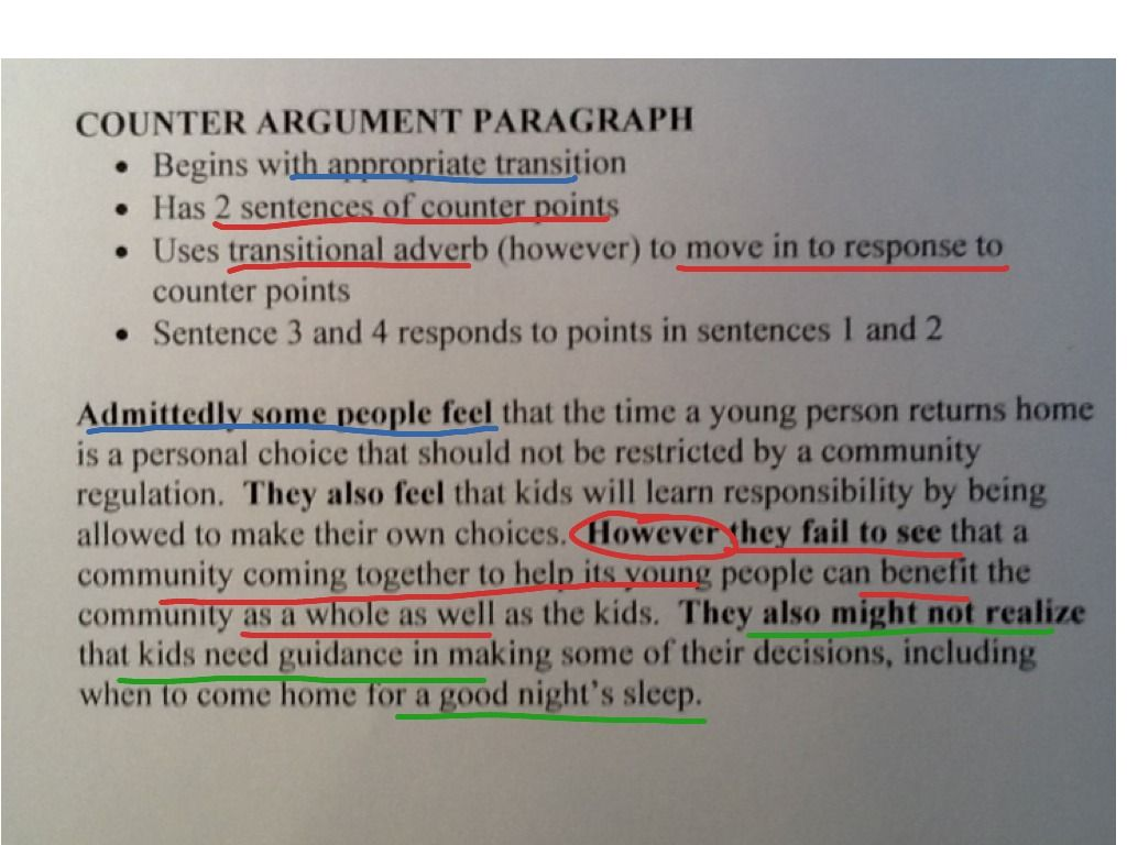 Full Size of Argumentative Essay Counter Argument Example