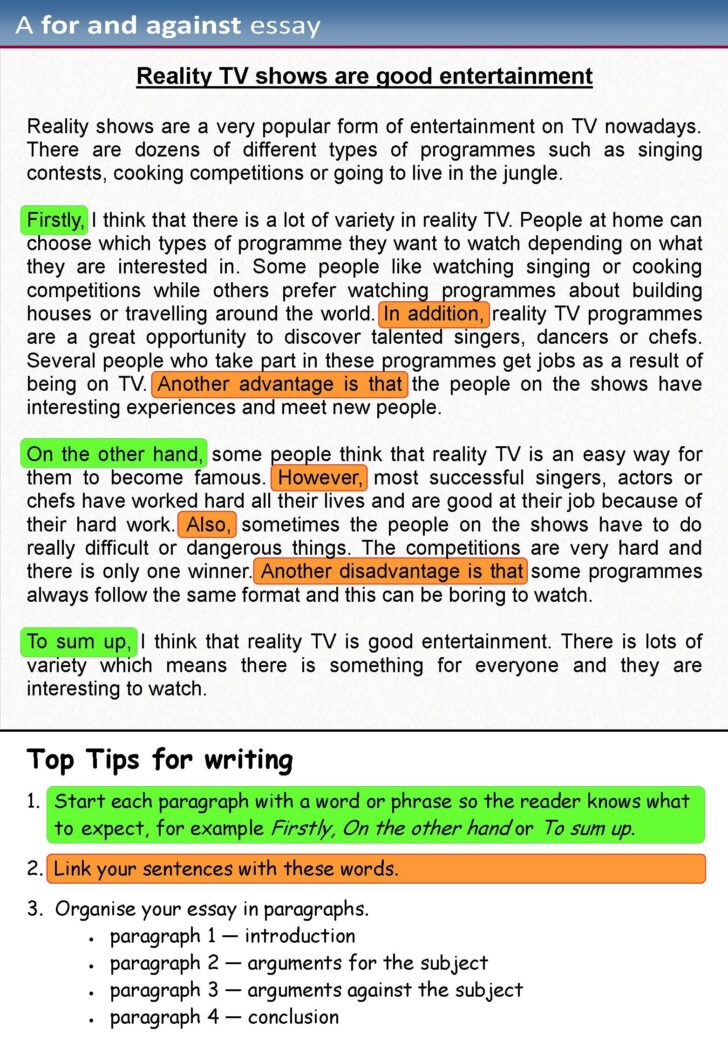 For And Against Essay Writing Examples English Opinion Rhetorical Analysis Outline Uc