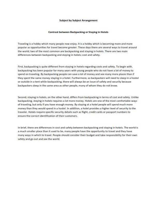 Free Compare And Contrast Essay Examples For Your Help Subject By Sample Writing