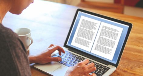 Getting Paid To Write Essays And Term Papers Typing Essay Female Novelist Writing On The