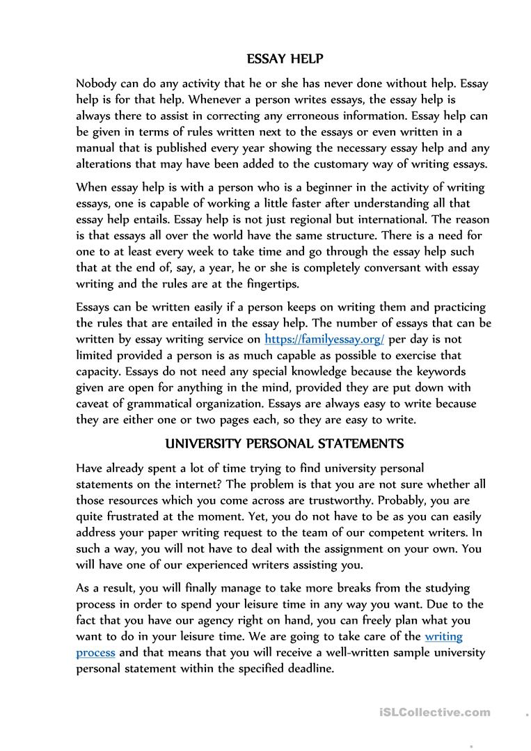Full Size of Help With Essay English Esl Worksheets For Distance Learning And Physical Classrooms