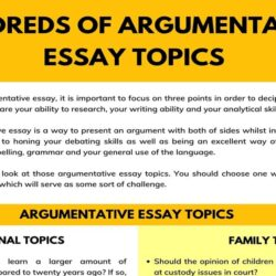 Hundreds Of Argumentative Essay Topics For Any Assignment 7esl Topic An Essays That