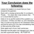 Thumbnail Size of Image Result For To Conclude An Essay Literary Analysis Informative Writing Conclusions How