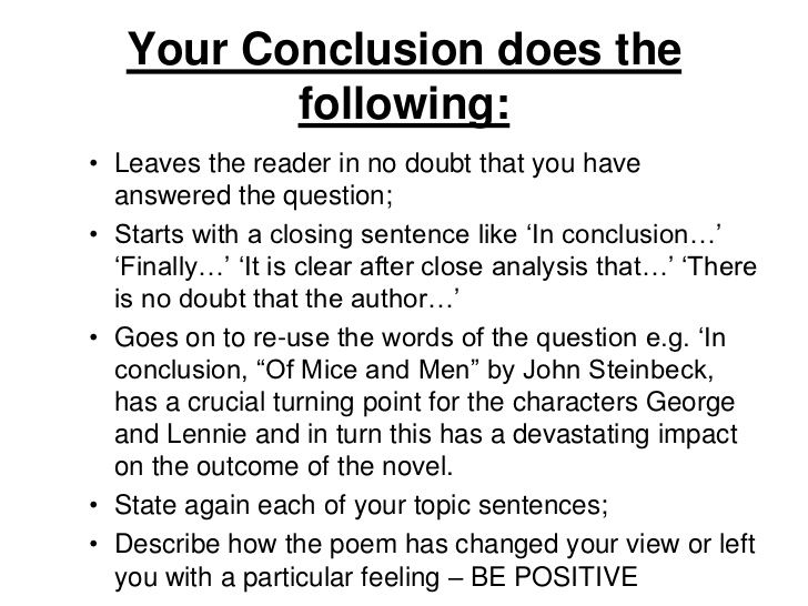 Image Result For To Conclude An Essay Literary Analysis Informative Writing Conclusions How