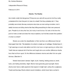 Ire Essay On Sharks Pdf Great Shark Apa Style Paper Example Review Mla Sample Sat