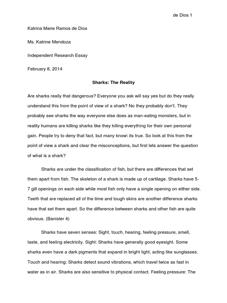 Full Size of Ire Essay On Sharks Pdf Great Shark Apa Style Paper Example Review Mla Sample Sat