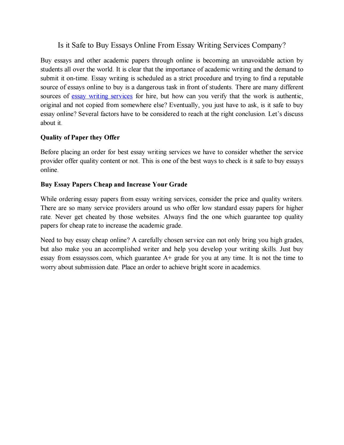 Full Size of Is It Safe To Essays From Essay Writing Services Company By Bestessayssos Issuu Problem Buy Cheap
