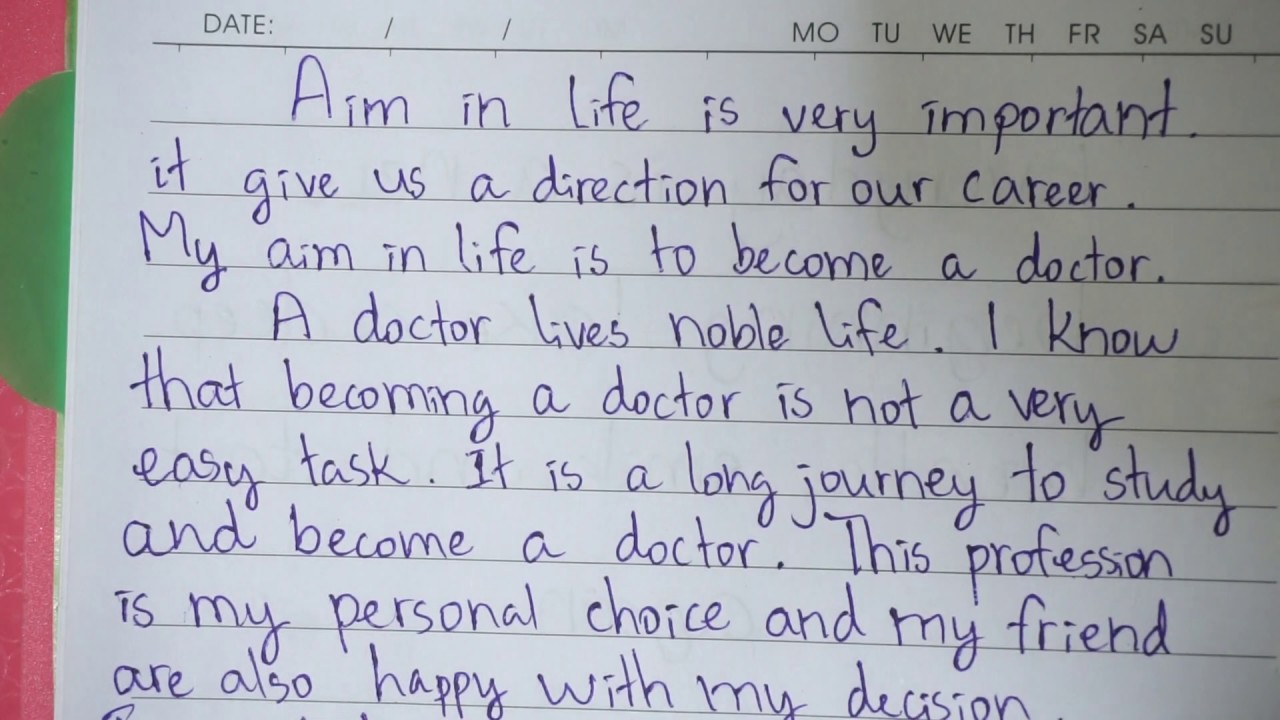 Full Size of My Aim To Become Doctor Essay In English Want Cause And Effect Comparison Template I A