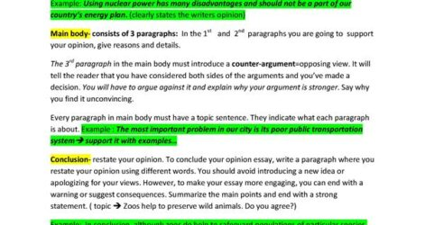 Opinion Essay Structure English Esl Worksheets For Distance Learning And Physical