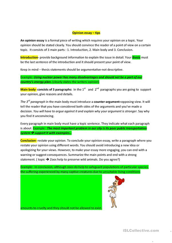 Full Size of Opinion Essay Structure English Esl Worksheets For Distance Learning And Physical
