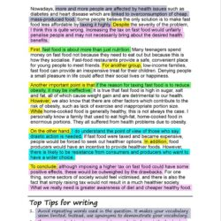 Opinion Essay Writing Guide Topics Tips Examples About Fast Food Reading Good Synthesis