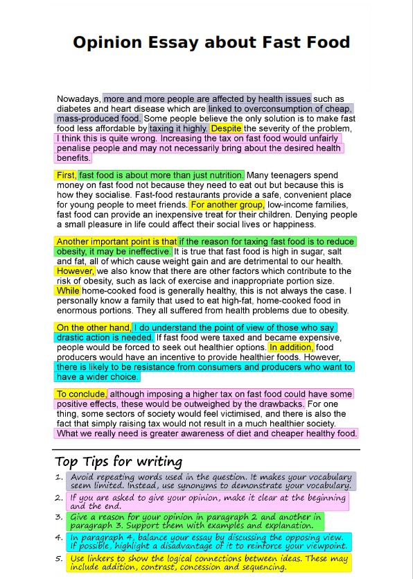 Full Size of Opinion Essay Writing Guide Topics Tips Examples About Fast Food Reading Good Synthesis