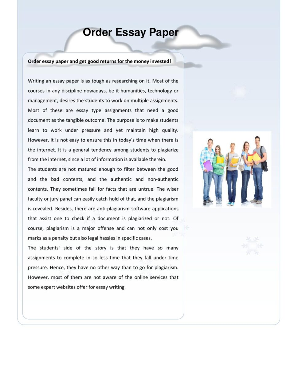 Large Size of Order Essay Paper By Assignment Issuu Reflection Template Rhetorical Analysis Thesis