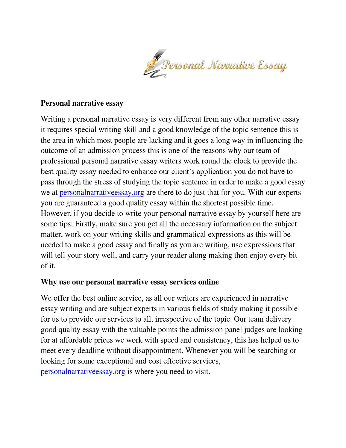 Full Size of Personal Narrative Essay By Hannah Blanton Issuu Mla Sample Paper Autobiography Theme