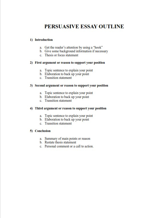 Full Size of Persuasive Essay Outline Writing Tips Template Examples Narrative Northwestern Supplement
