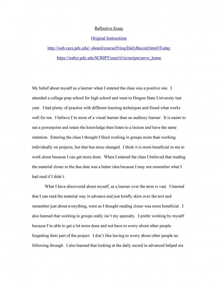 Full Size of Reflective Essay Example In Examples Reflection Extended Want To Become Doctor Music On