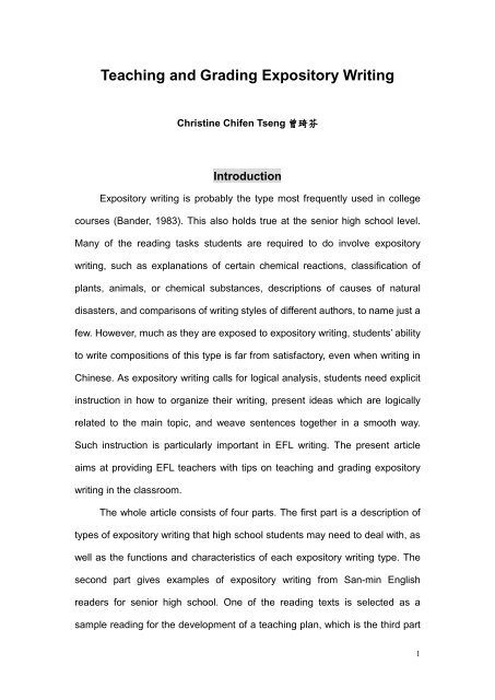 Full Size of Teaching And Grading Expository Writing Research Paper Sample Essay Introduction Examples