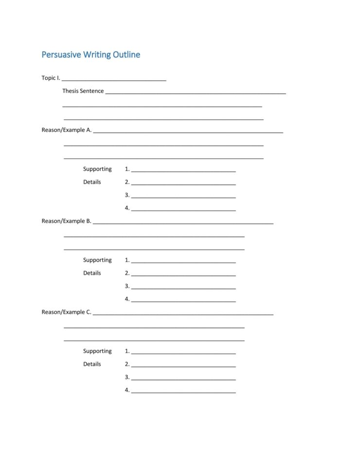 Medium Size of Template Extended Essay Outline Persuasive Structure Layout