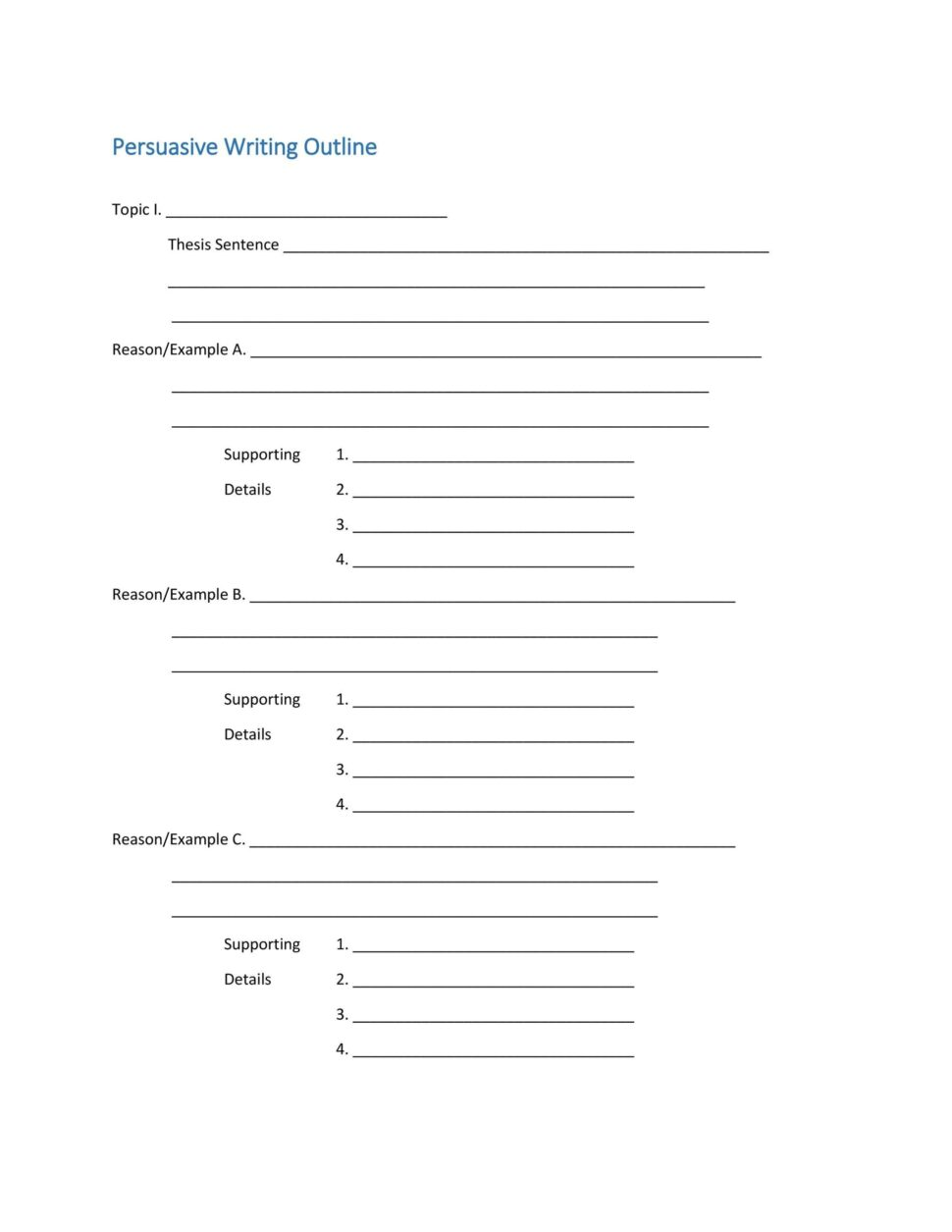 Large Size of Template Extended Essay Outline Persuasive Structure Layout