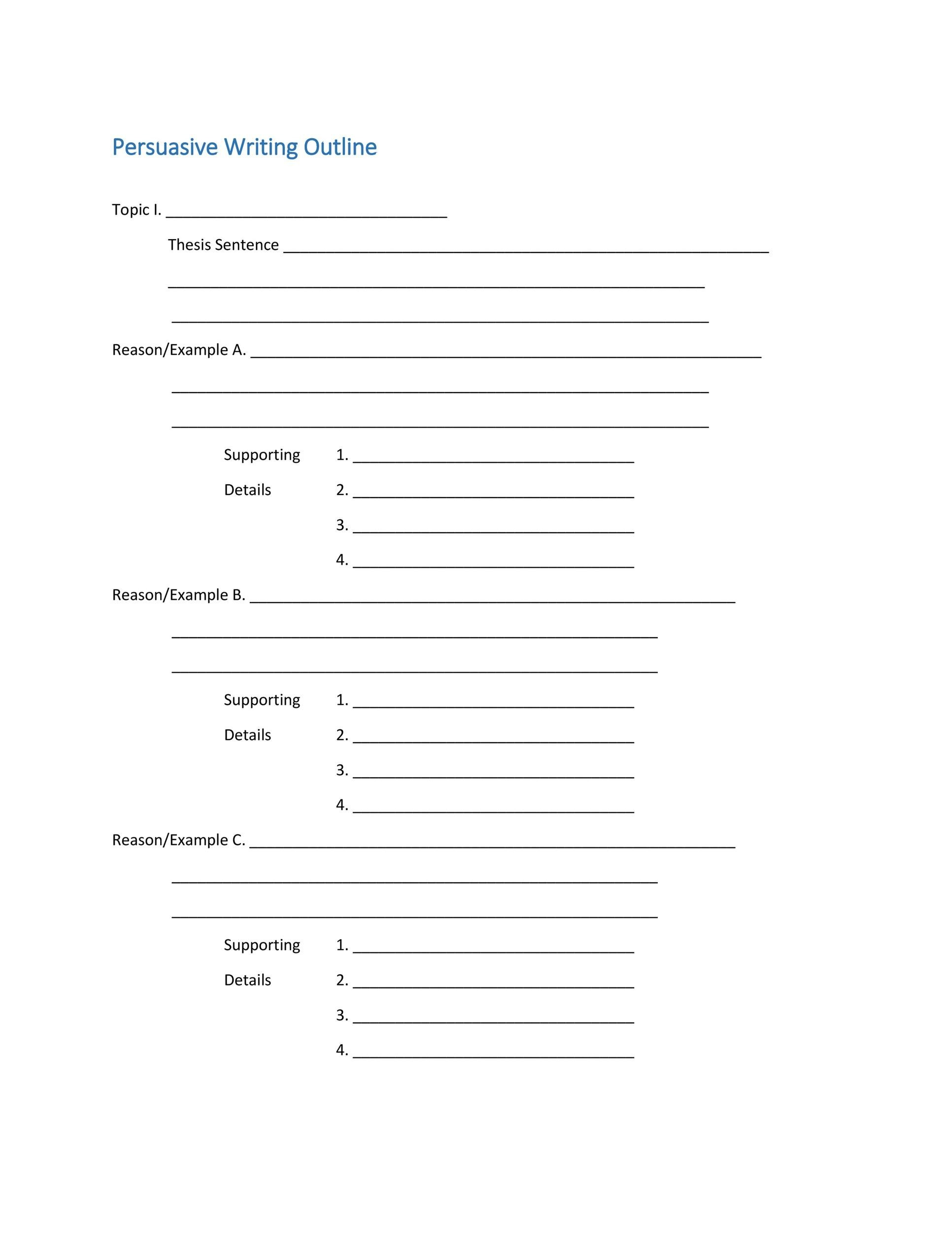 Full Size of Template Extended Essay Outline Persuasive Structure Layout