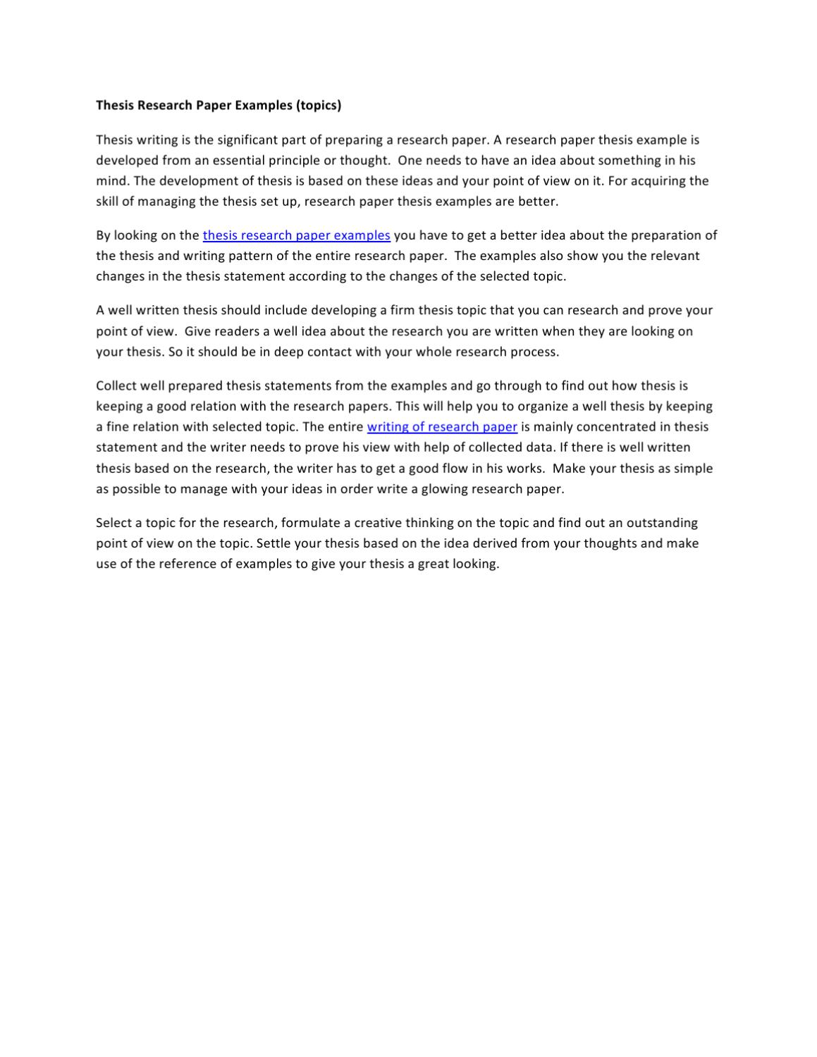 Full Size of Thesis Research Paper Examples By Mathew Stuart Issuu Example Essay Proofreader English