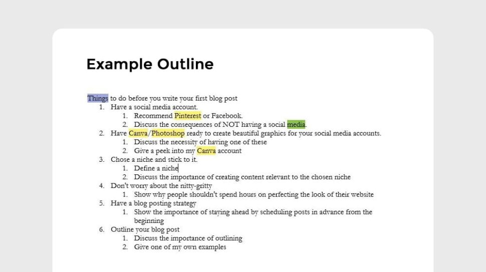 Large Size of To Create Blog Post Outline With Free Templates Template Example Law Essay Plan Summary
