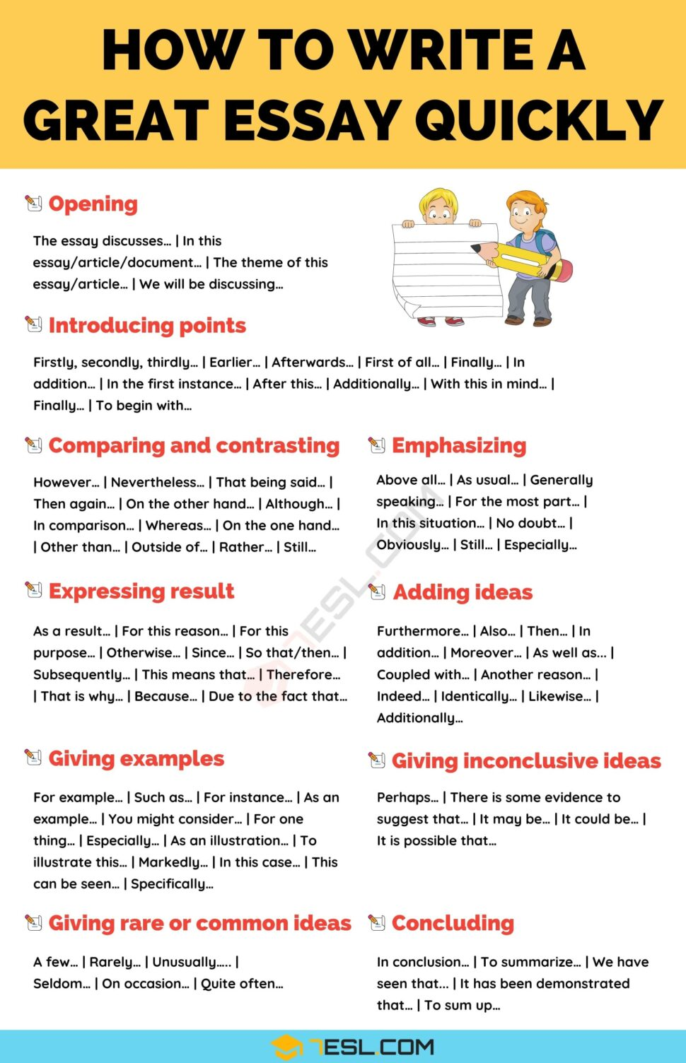 Large Size of To Write An Essay In Simple Steps 7esl Writing Skills English Academic Pay Point By