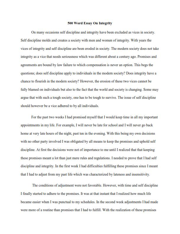 Full Size of To Write Word Essay Easy Guide Length Sample On Integrity Narrative Composition Outline 500