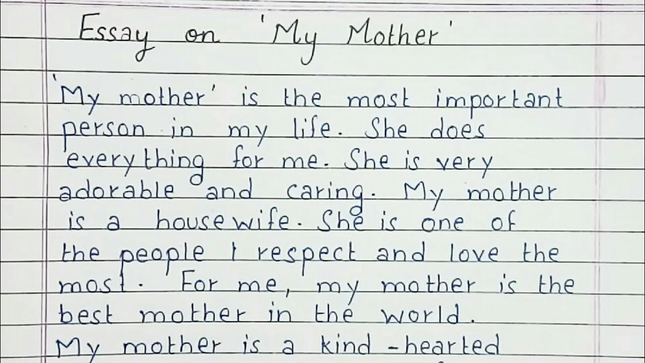 Full Size of Write Short Essay On My Mother English Comparative Compare Contrast Example Bullying