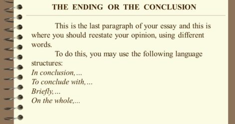 Writing An Opinion Essay To End The Ending Or Conclusion Nhs Examples Review How